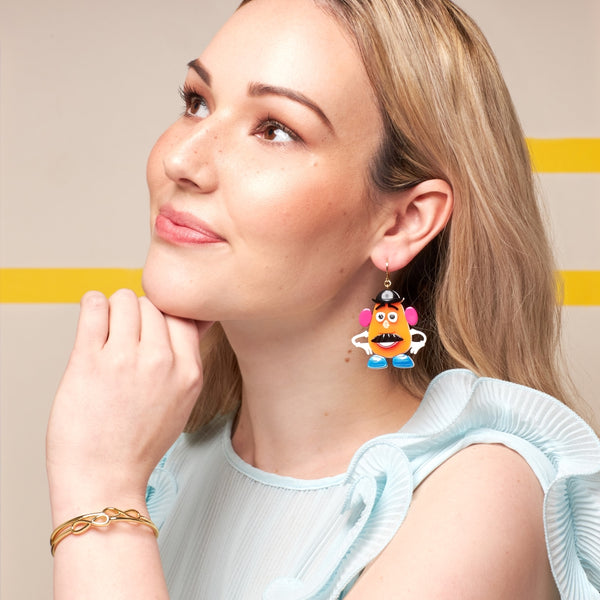 Disney_Pixar_Toy_Story_White_Gold_Mr_Potato_Head_Earrings_Couture_Kingdom_DSE1010_on_model