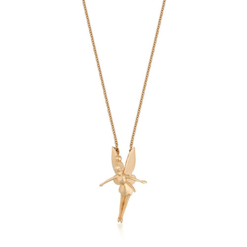 Disney Precious Metal Tinker Bell Necklace - Disney Jewellery