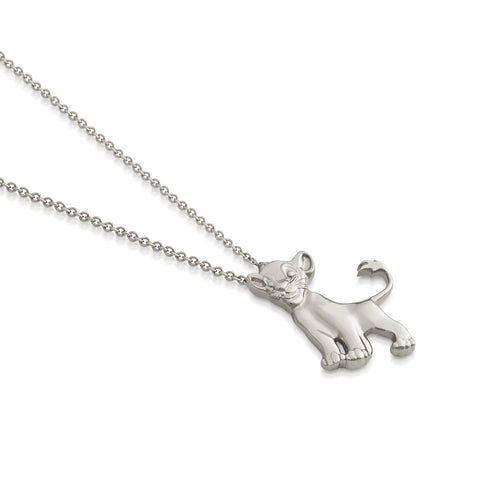 Disney The Lion King Precious Metal Simba Necklace - Disney Jewellery