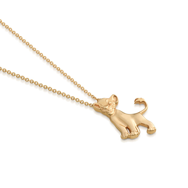 Disney-The-Lion-King-Simba-9-carat-gold-Necklace-Side-View-Jewelry-by-Couture-Kingdom-N215738