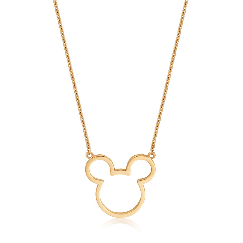 Disney-9-carat-gold-Precious-Metal-Mickey-Mouse-Outline-Necklace-Jewelry-by-Couture-Kingdom-N215777