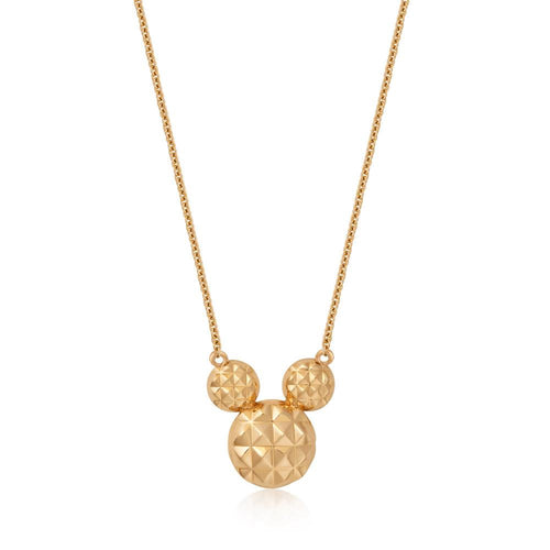 Disney Precious Metal Mickey Mouse Necklace - Disney Jewellery
