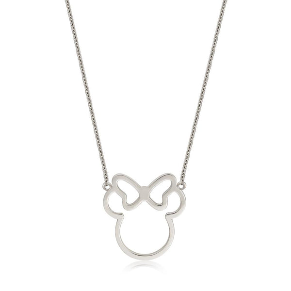 Disney-Sterling-Silver-Minnie-Mouse-Outline-Necklace-by-Couture-Kingdom-Jewelry-N215907S