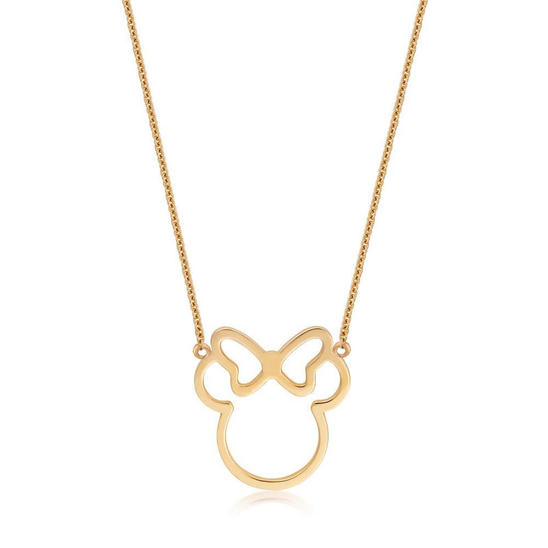 Disney-9-carat-gold-Precious-Metal-Minnie-Mouse-Outline-Necklace-Jewelry-by-Couture-Kingdom-N215907