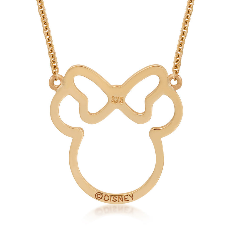 Disney-9-carat-gold-Precious-Metal-Minnie-Mouse-Outline-Necklace-Back-View-Jewelry-by-Couture-Kingdom-N215907