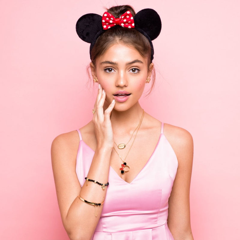 Disney Minnie Mouse Signature Necklace - Disney Jewellery
