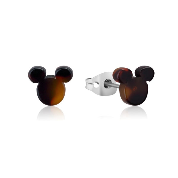 Disney ECC Mickey Mouse Tortoise Shell Stud Earrings