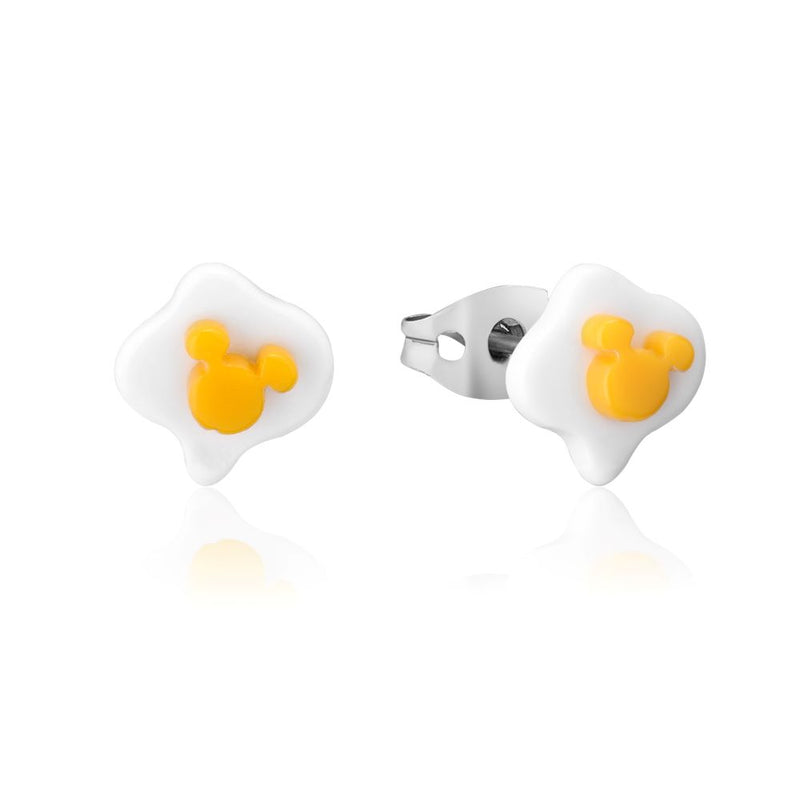 Disney ECC Mickey Mouse Fried Egg Stud Earrings