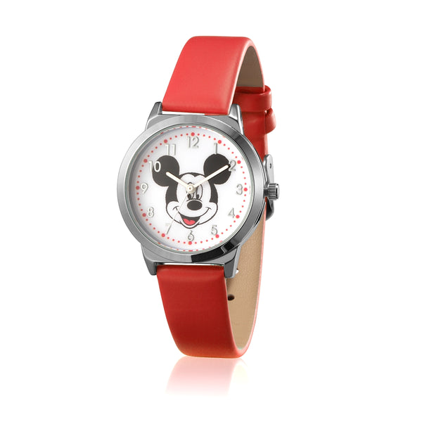 SPW001_Mickey_Mouse_Small_Watch_Red_Strap
