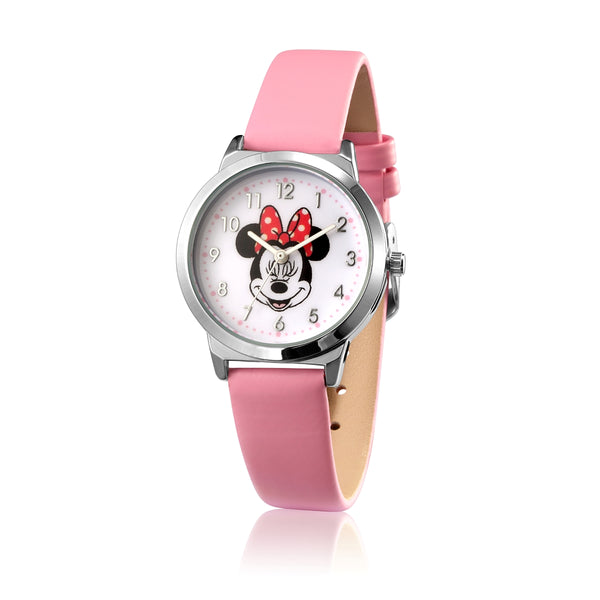 SPW002_Minnie_Mouse_Small_Watch_Pink_Strap_Front_View
