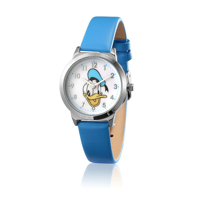 SPW003_Donald_Duck_Small_Watch_Blue_Strap_Front_View