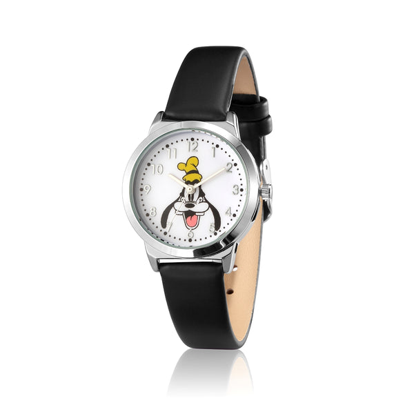 SPW005_Goofy_Small_Watch_Black_Strap_Front_View