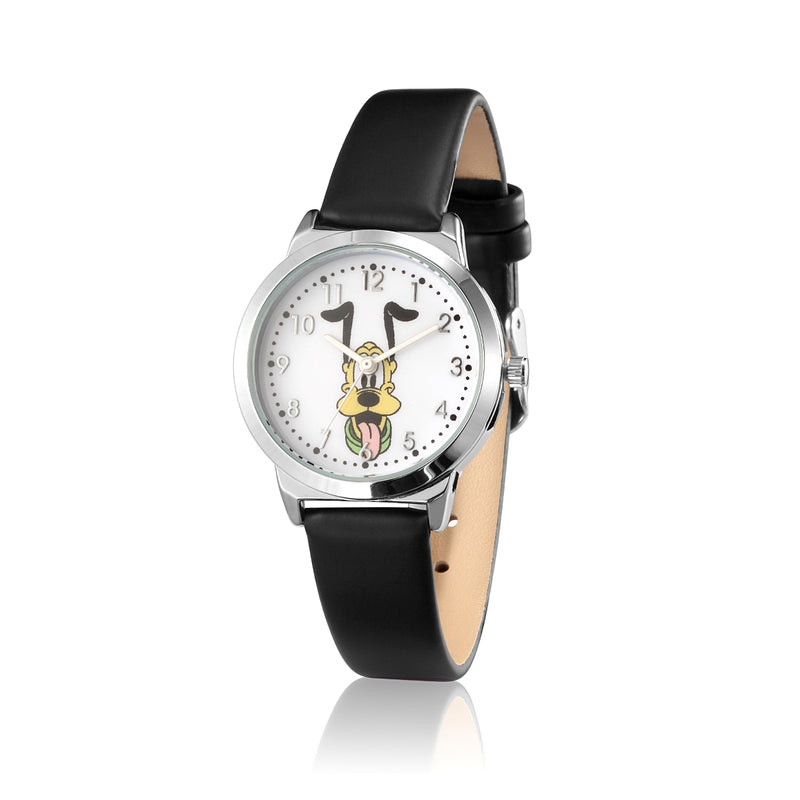 SPW006_Pluto_Small_Watch_Black_Strap_Front_View