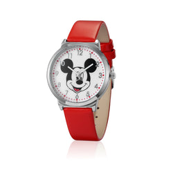 SPW007_Mickey_Mouse_Watch_Red_Strap_Front_View
