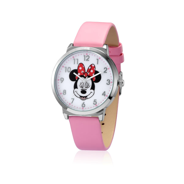 SPW008_Minnie_Mouse_Watch_Pink_Strap_Front_View