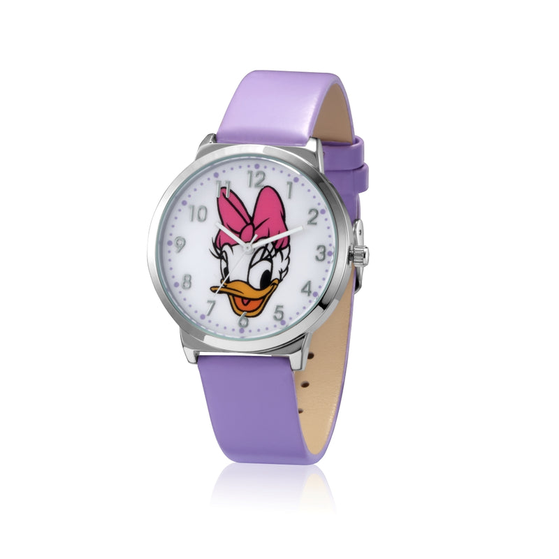 SPW010_Daisy_Duck_Watch_Purple_Strap_Front_View