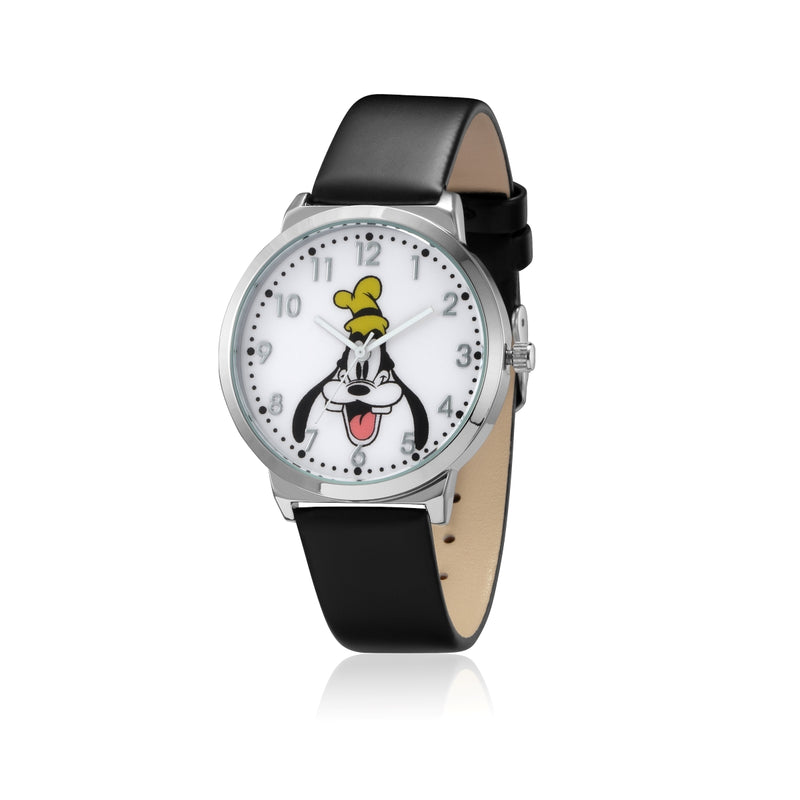 SPW011_Goofy_Watch_Black_Strap_Front_View.