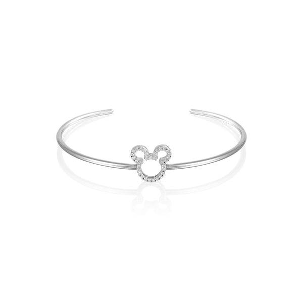 Disney Precious Metal Mickey Mouse Crystal Outline Bracelet