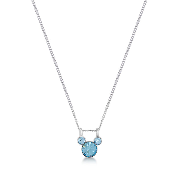 Disney Mickey March Birthstone Necklace - Disney Jewellery