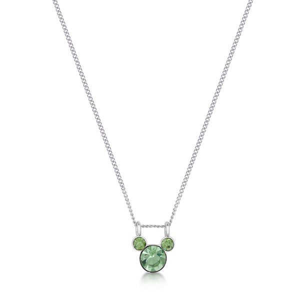 Disney Mickey August Birthstone Necklace - Disney Jewellery