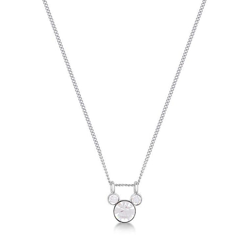 Disney Mickey April Birthstone Necklace - Disney Jewellery