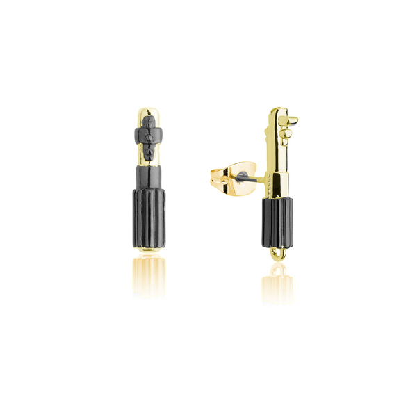 Star_Wars_Darth_Vader_Luke_Skywalker_Light_Saber_Stud_Earrings_Yellow_Gold_Couture_Kingdom_SWE016
