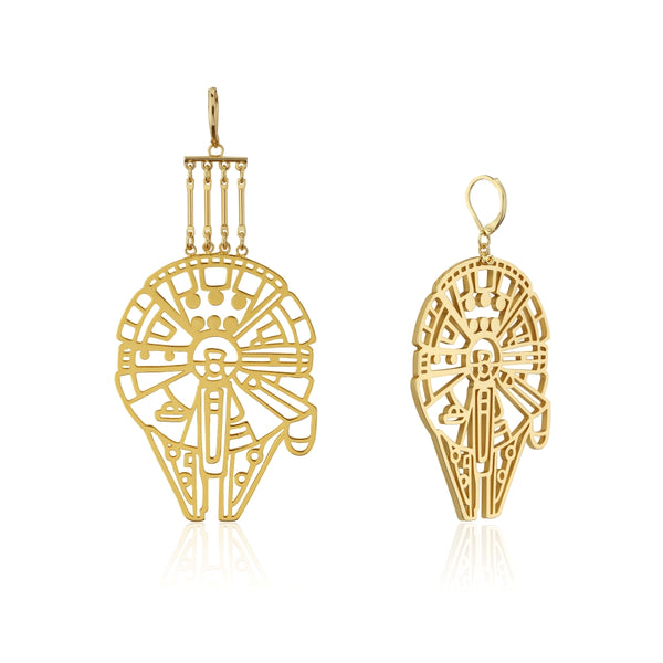 Star_Wars_Millennium_Falcon_Drop_Earrings_Yellow_Gold_Couture_Kingdom_SWE014