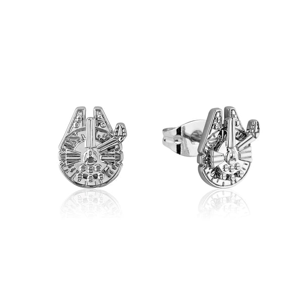 Star_Wars_Millennium_Falcon_Stud_Earrings_White_Gold_Couture_Kingdom_SWE012