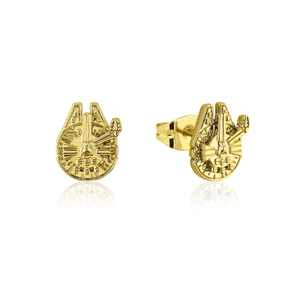 Star_Wars_Millennium_Falcon_Stud_Earrings_Yellow_Gold_Couture_Kingdom_SWE011