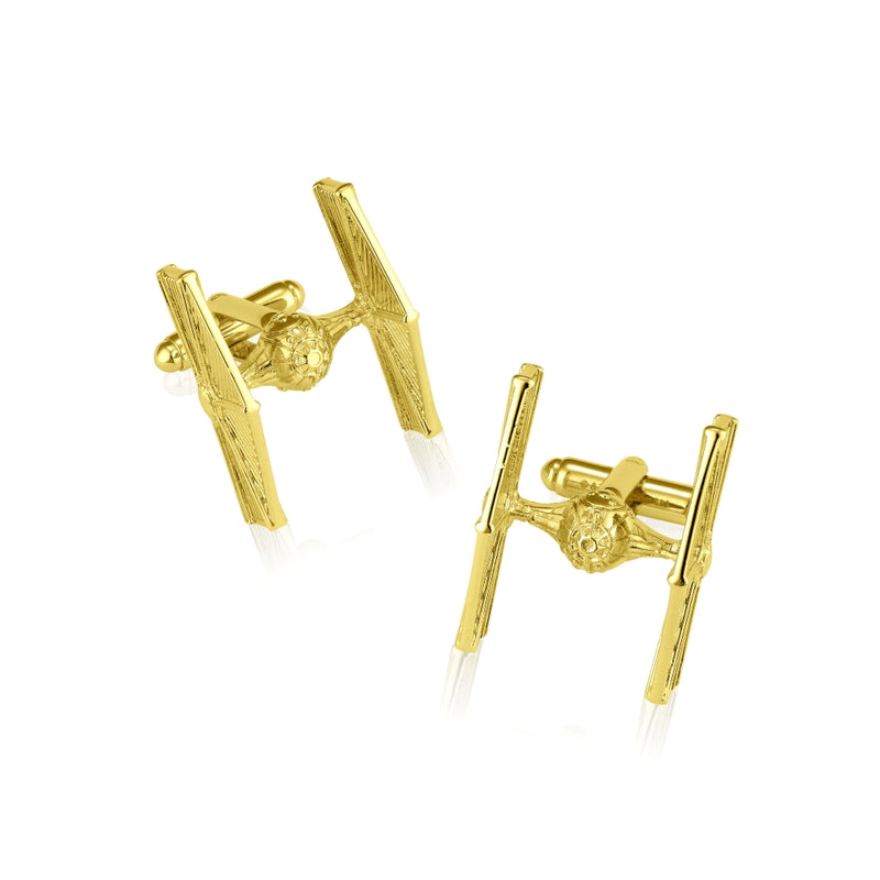 Star_Wars_TIE_Fighter_Cufflinks_Yellow__Gold_Couture_Kingdom_SWCL03
