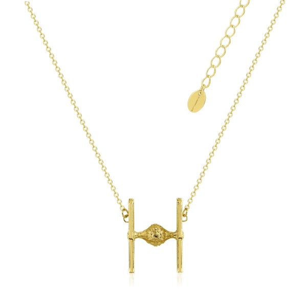 Star_Wars_TIE_Fighter_Necklace_Yellow_Gold_Couture_Kingdom_SWN011