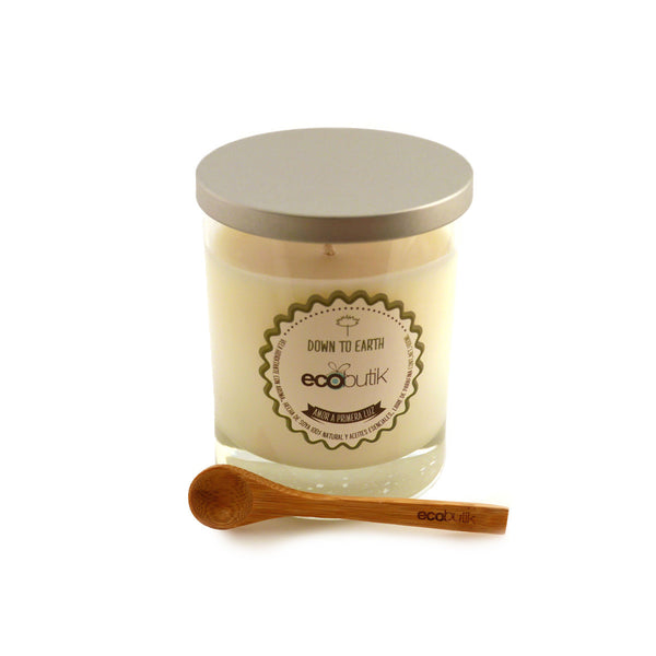 Vela de Soya Hidratante Down to Earth Ecobutik chica cuchara