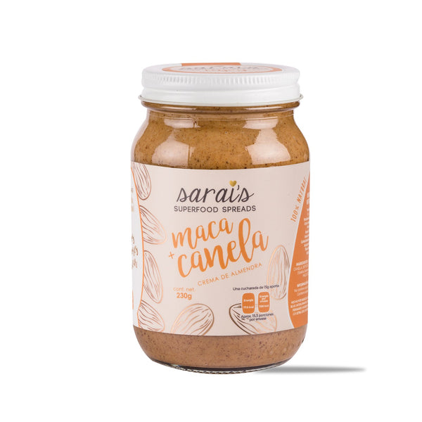 Crema de maca y canela SARAI'S SUPERFOOD SPREADS