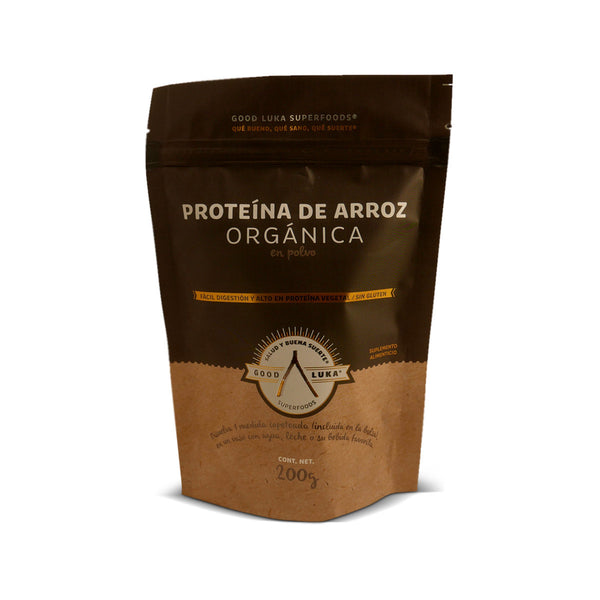 Proteína de Arroz Orgánica En Polvo GoodLuka Superfood