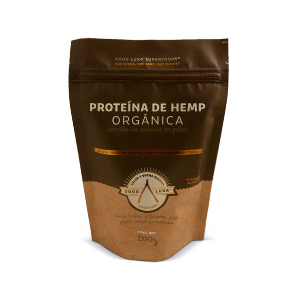 Proteína de Hemp Orgánica En Polvo Good Luka Superfood