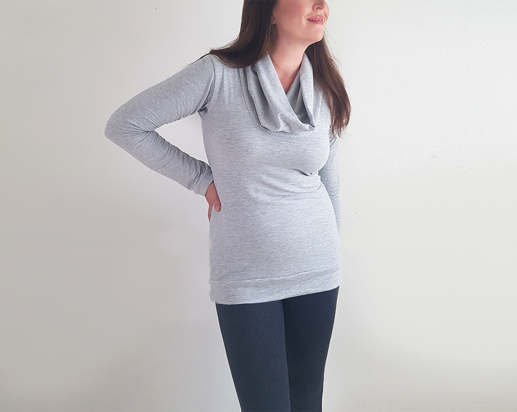 Cowl-Neck Tunic Top