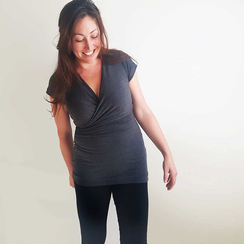 The Half-Wrap top (Nursing Friendly!)