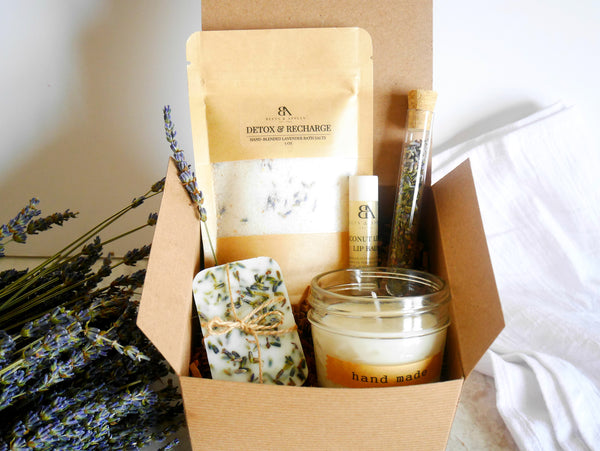 Lavender Essentials Spa Gift Box