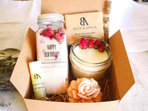 Handmade Spa Birthday gift basket Virginia Birthday gift box Happy Birthday Spa Gift Box