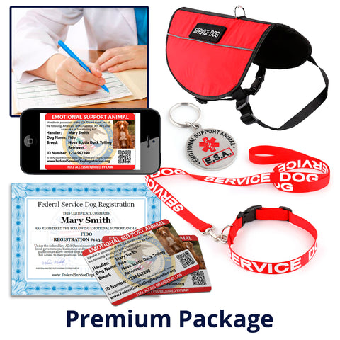 Emotional Support Animal - Premium Package (Bundle and Save $212)