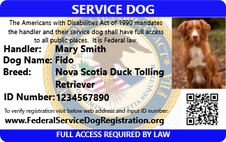 Buy 1, Get 2nd FREE* (offer expires soon) - Service Dog ID Card