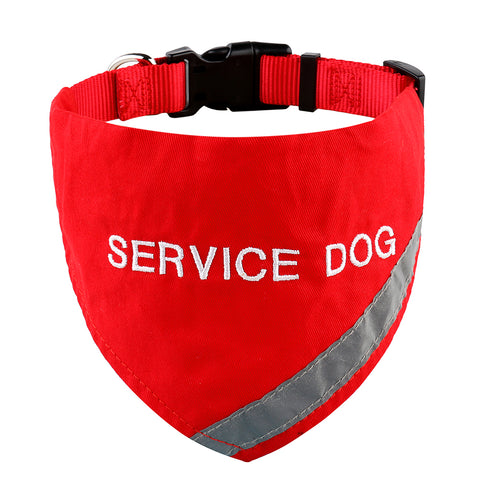 Red Service Dog Collar Bandana