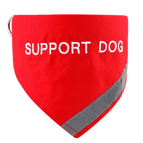 Red Support Dog Collar Bandana