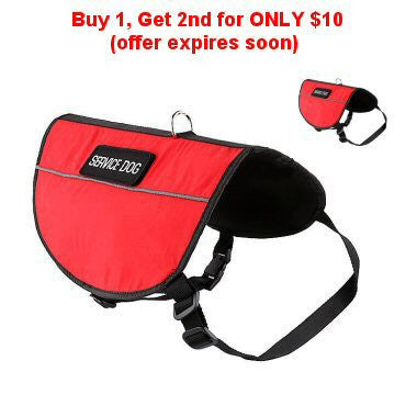 Buy 1, Get 2nd for ONLY $10* (offer expires soon) - Service Dog Vest (Standard)