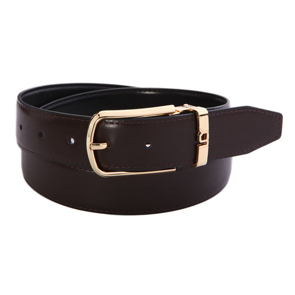 LUCHENGYI Men Dress Belt Leather with Adjustable Buckle