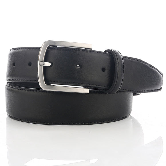 LUCHENGYI Leather Belt for Men Business Style 35mm