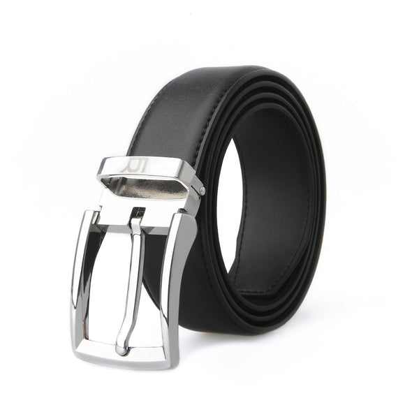 Adjustable Leather Belt for Men with Removable Buckle from LUCHENGYI Fashion Design Gifts 1-3/8 Wide