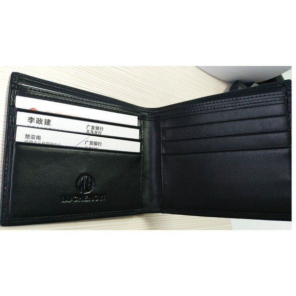 LUCHENGYI Genuine Leather Wallet for Men