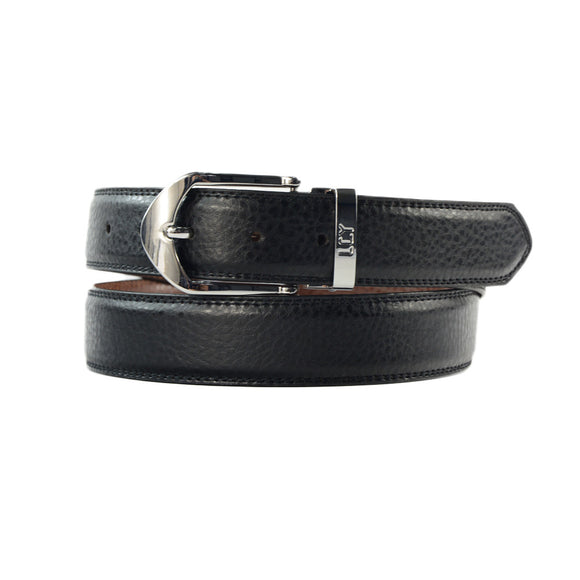 LUCHENGYI Men Leather Belt with Detachable Buckle