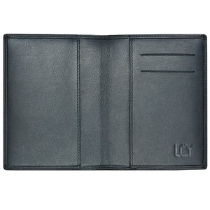 LUCHENGYI Leather Passport Holder for Men Passport Cover with Card Slots